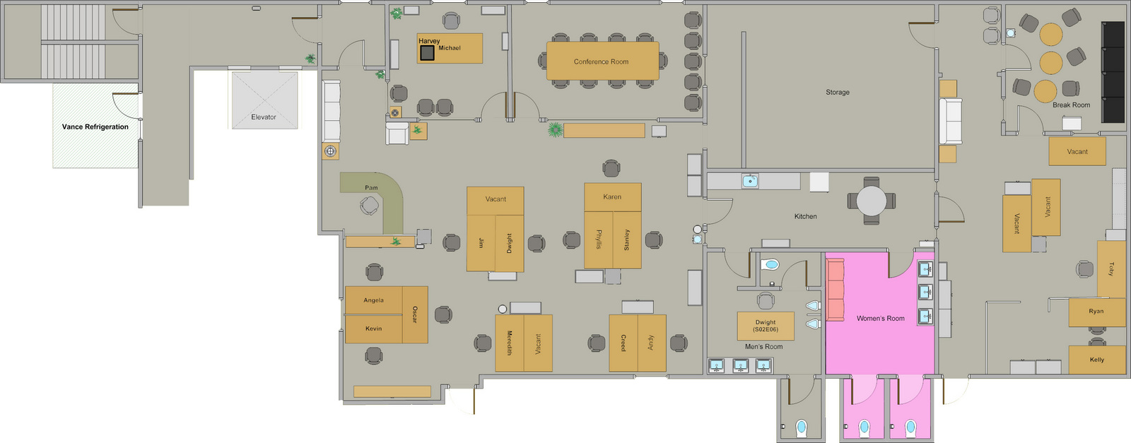 I_got_bored_so_i_decided_to_make_a_foor_plan_of on Dunder Mifflin Office Layout